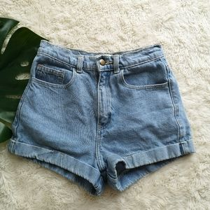 American Apparel high waisted jeans shorts